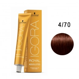 SCHWARZKOPF TINTE IGORA ROYAL ABSOLUTES 4-70