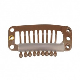 CLIPS METAL.MARRON UNDIDAD